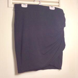 Express black wrap mini-skirt